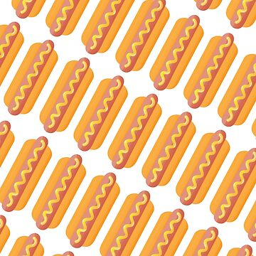 Hotdog Pattern by MHcreatives