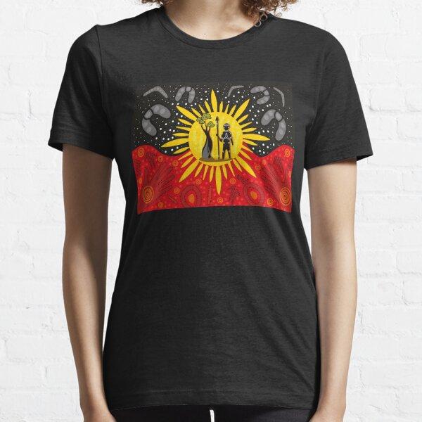 Australian Aboriginal Art Flag Essential T-Shirt