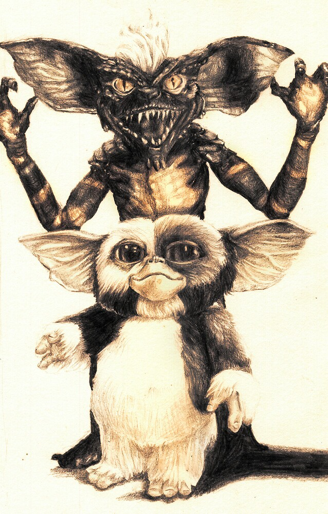 Quot Gizmo And Spike From Gremlins Quot By Aaronbir Redbubble