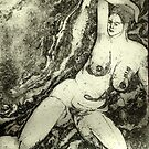 Marbled Nude by Marsha Hallet