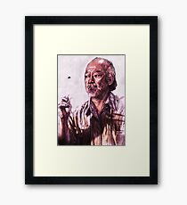 Mr. Miyagi from Karate Kid Framed Print