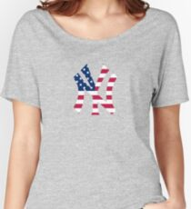 New York Yankees America  Women's Relaxed Fit T-Shirt