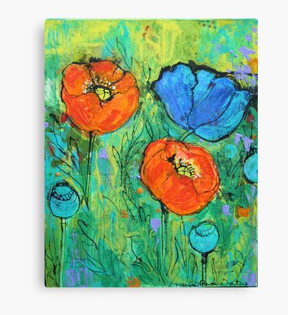 Tangerine And Blue Canvas Print