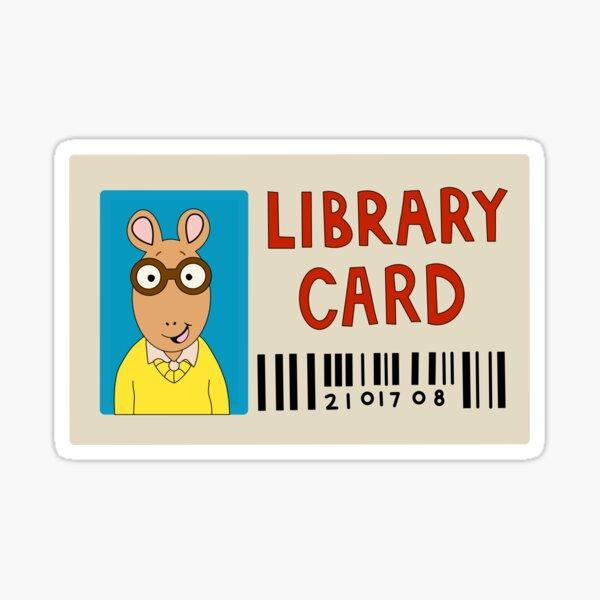 Arthur Library Card Sticker Sticker