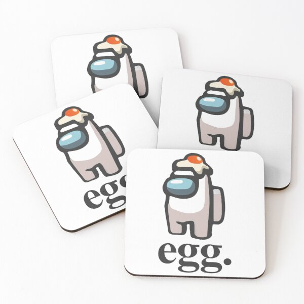 Among Us egg Design Coasters (Set of 4)