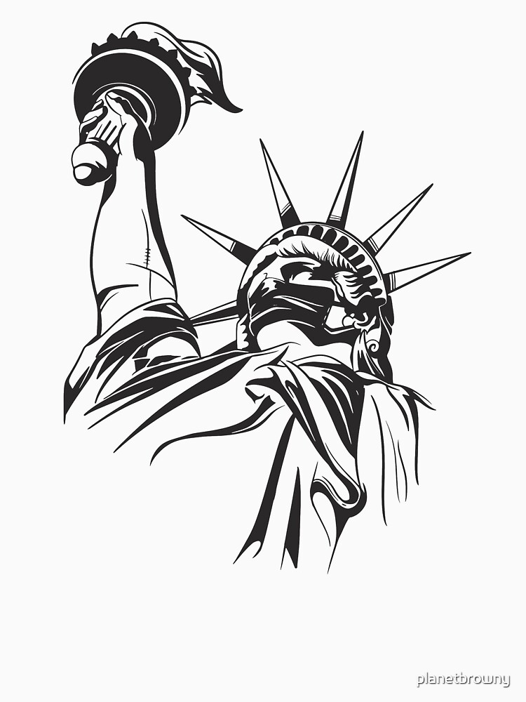 Lady Liberty Face Mask von planetbrowny
