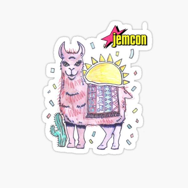 Rama Llama With JemCon Logo Sticker