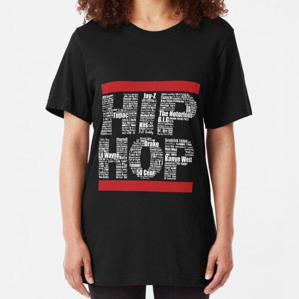 Hip Hop in Black Slim Fit T-Shirt
