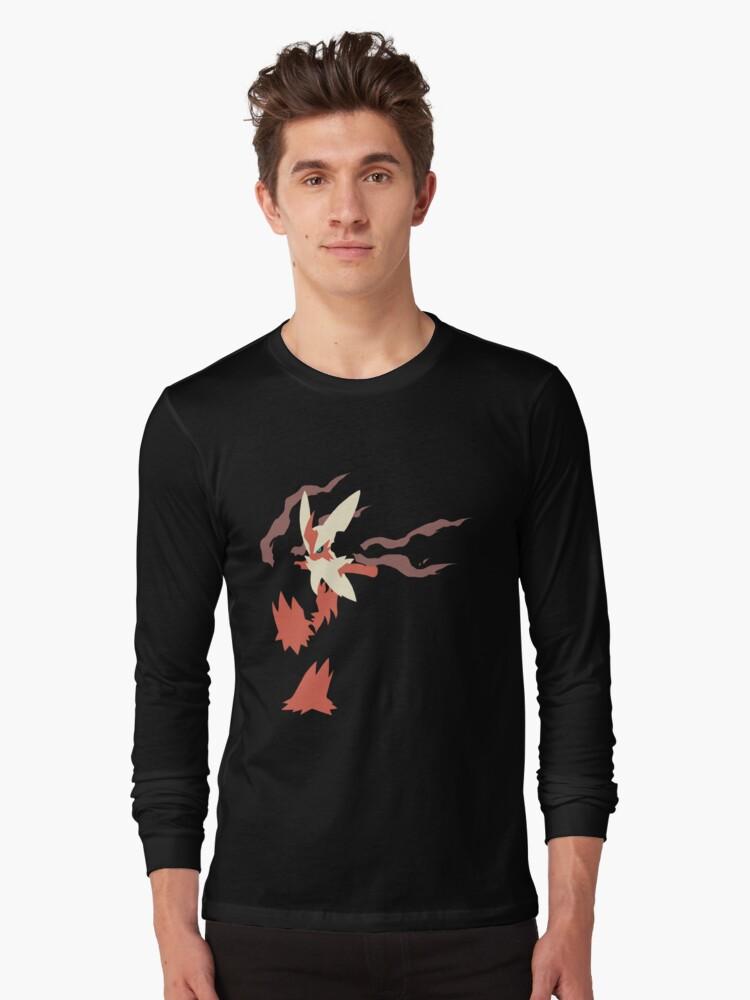 Mega Blaziken Long Sleeve T-Shirt Front