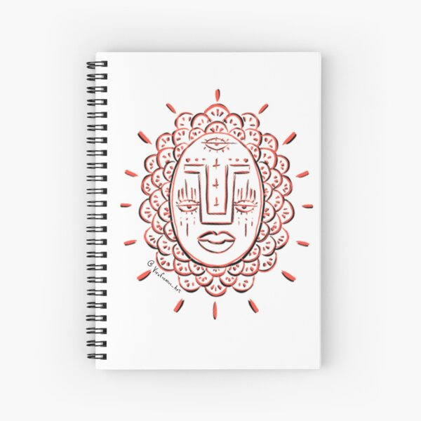 Three Eye Face  Spiral Notebook