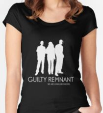 The Leftovers - Guilty Remnant Women's Fitted Scoop T-Shirt