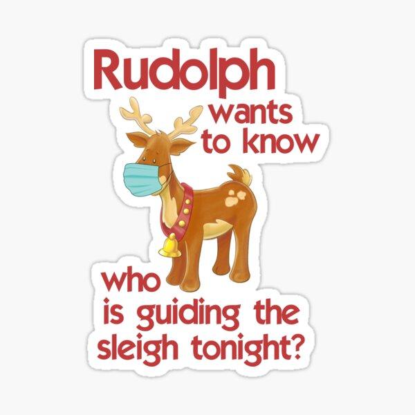 Rudolph Face mask 2020 christmas Sticker