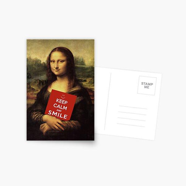 Mona Lisa Says: Keep Calm And Smile Postcard