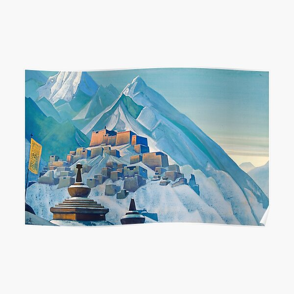 Tibet Himalayas 1933 by Nicholas Roerich Poster