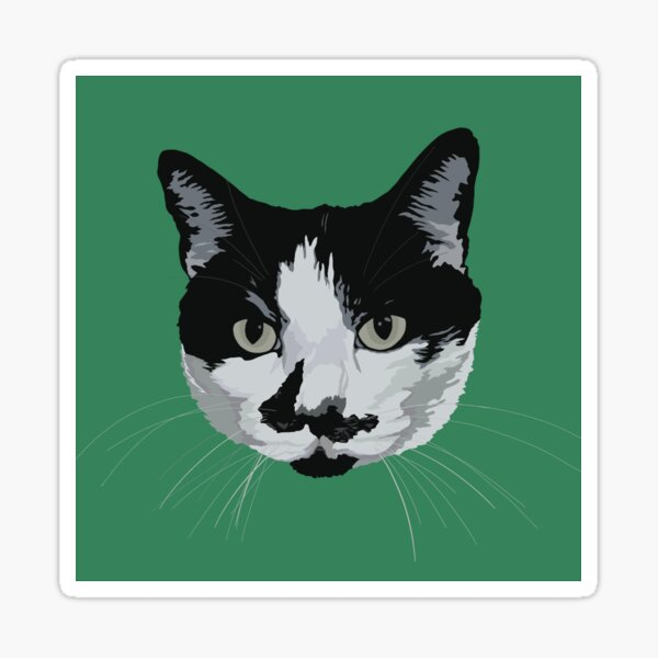 Custom Pet Portrait- Charles Sticker