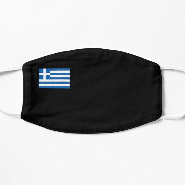 Greece Flag Face Mask  Flat Mask