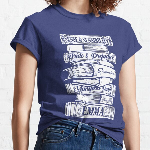 Jane Austen Vintage Book Club Mr. Darcy Fans Literary Quotes Gifts Classic T-Shirt