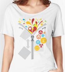 Zipper_Heart Women's Relaxed Fit T-Shirt