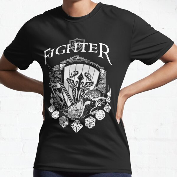 RPG Class Series: Fighter - White Version Active T-Shirt
