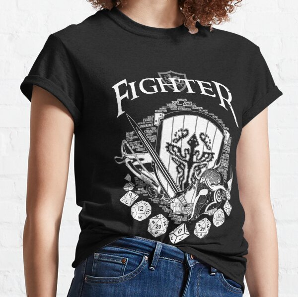 RPG Class Series: Fighter - White Version Classic T-Shirt