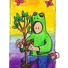 KMAY Hoodkid Frog with Tree Gift by Katherine May