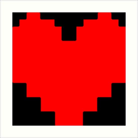 Quot Undertale Heart Quot Art Prints By Puppy Redbubble