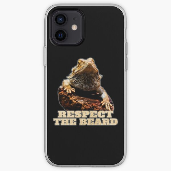 Funny Bearded Dragon Respect The Beard iPhone Soft Case