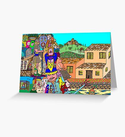 Tuscany intruders Greeting Card