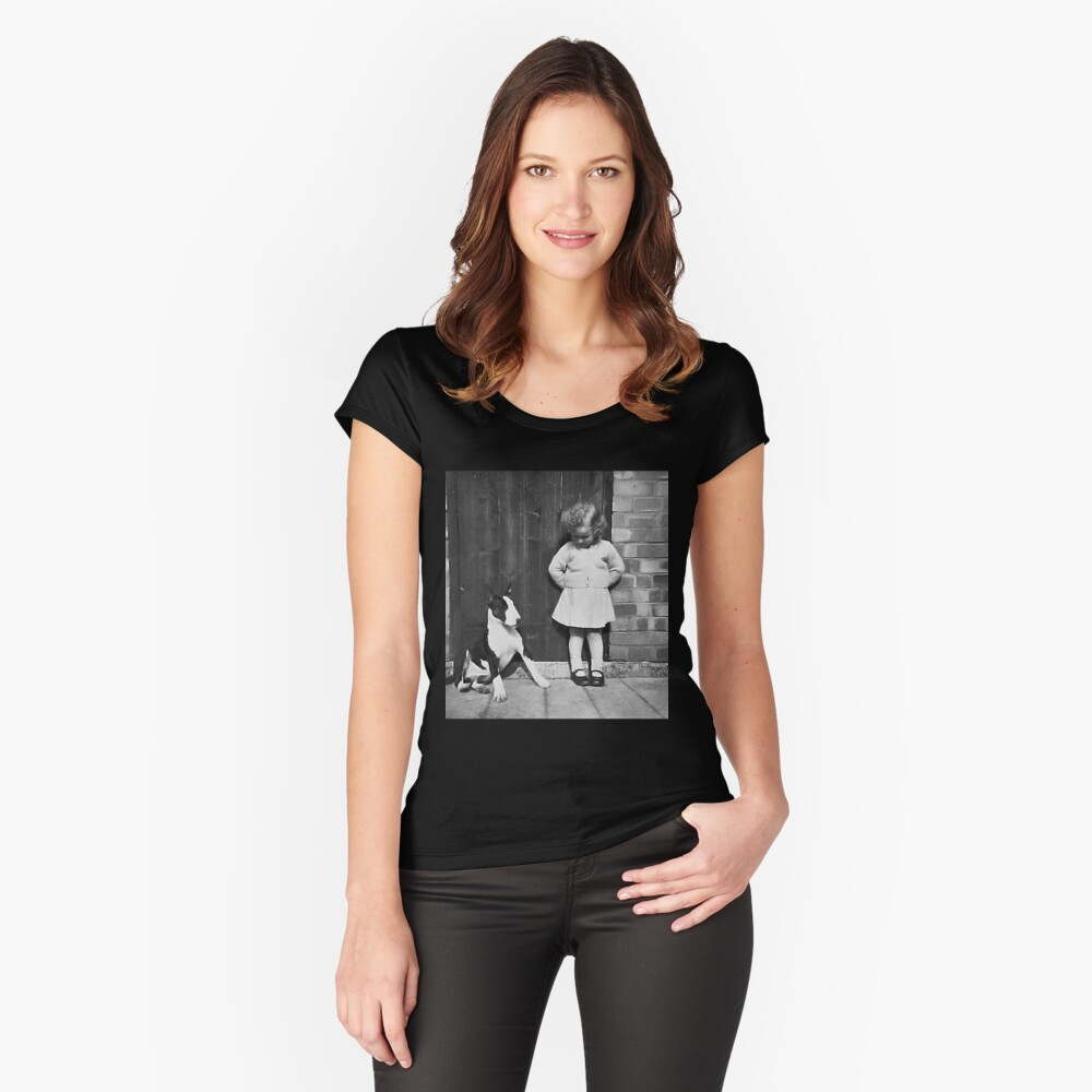 ' What Shall We Do Now ' Women's Fitted Scoop T-Shirt Front
