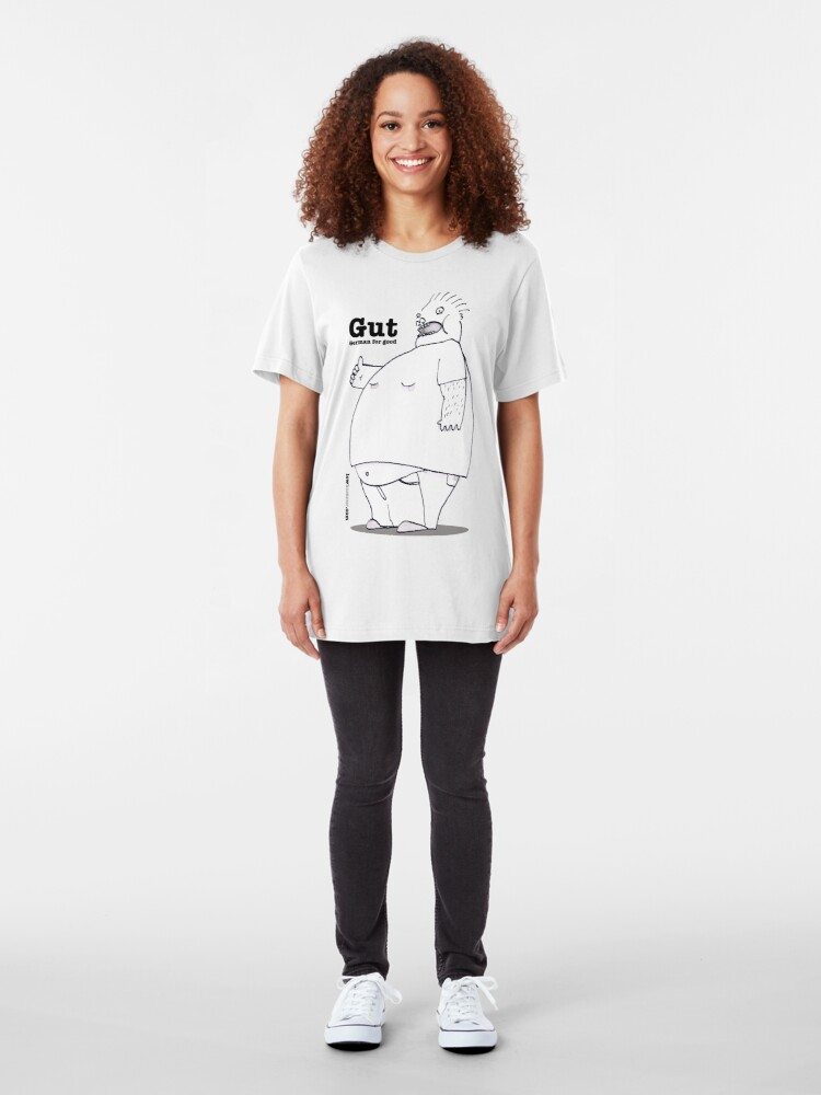 Alternate view of Gut. German for Good. Slim Fit T-Shirt