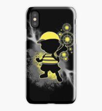 Super Smash Bros. Yellow/Black Ness Sihouette iPhone Case