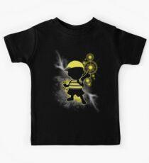 Super Smash Bros. Yellow/Black Ness Sihouette Kids Tee