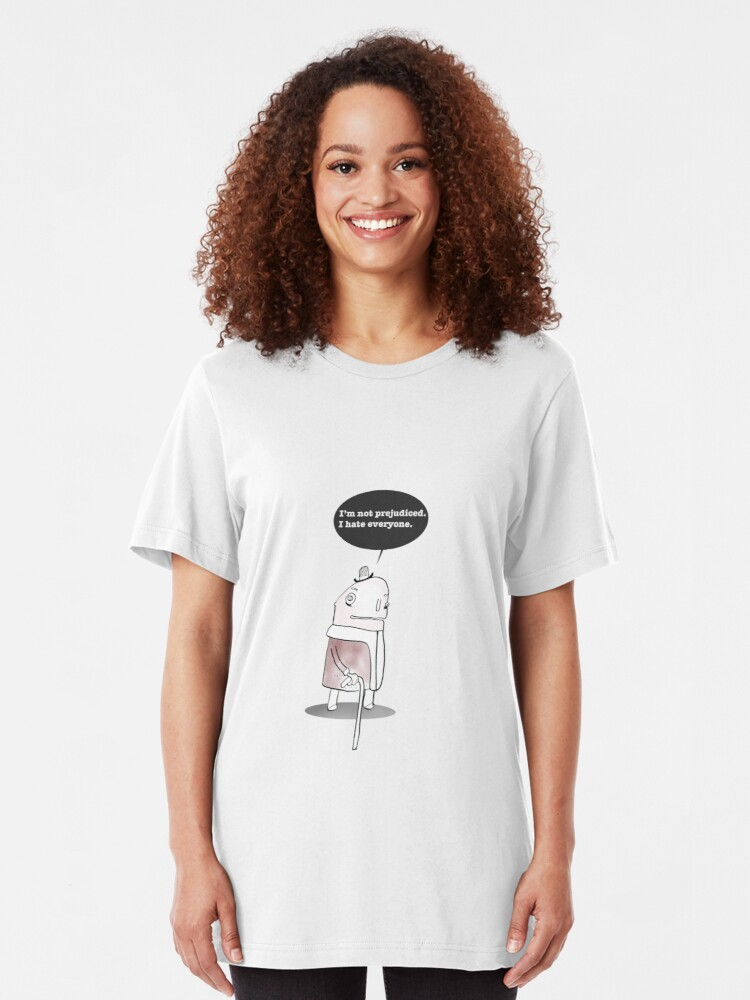 Alternate view of I Hate Everyone Slim Fit T-Shirt