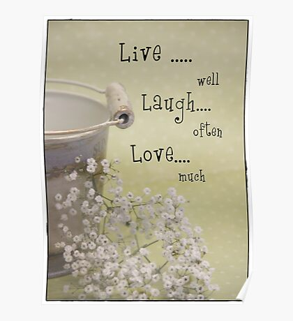 Live,Laugh & Love Poster