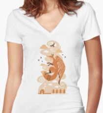 The Flying Fox Women's Fitted V-Neck T-Shirt