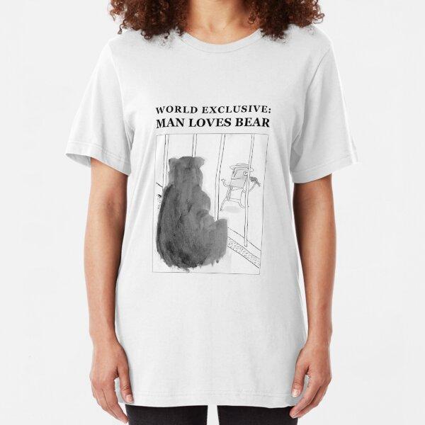 Man Loves Bear Slim Fit T-Shirt