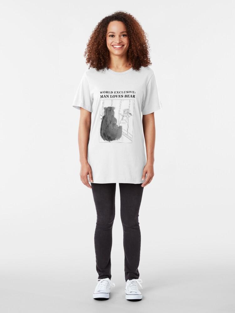 Alternate view of Man Loves Bear Slim Fit T-Shirt