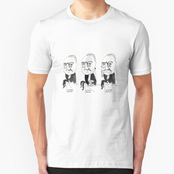 J Edgar Hoover Comic Slim Fit T-Shirt