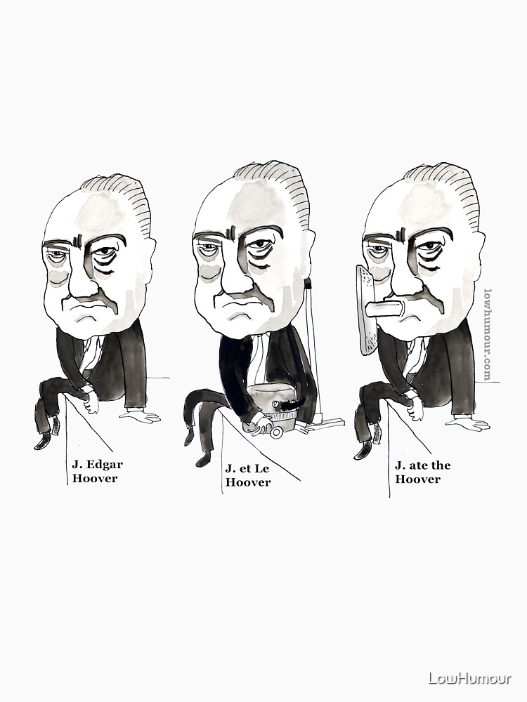 J Edgar Hoover Comic by LowHumour