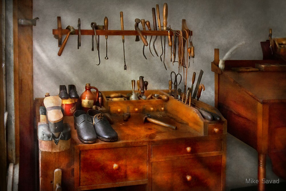 Shoemaker - The cobblers shop by Michael Savad