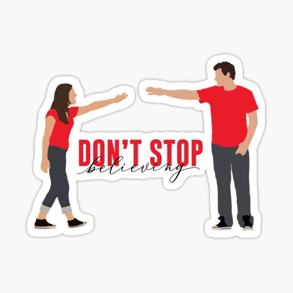 Finn and Rachel - Don't Stop Believing Sticker