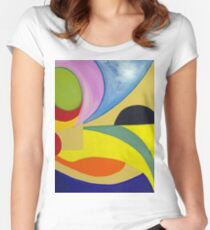 In the eye.... Women's Fitted Scoop T-Shirt