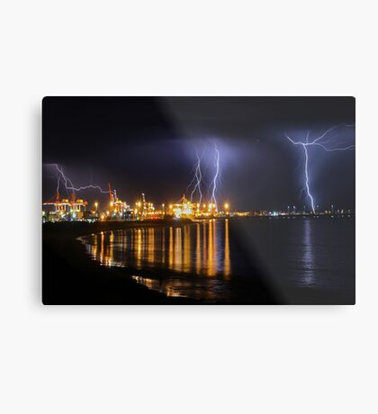Fremantle Port Thunderstorm  Metal Print