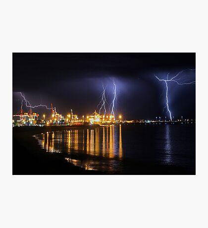 Fremantle Port Thunderstorm  Photographic Print