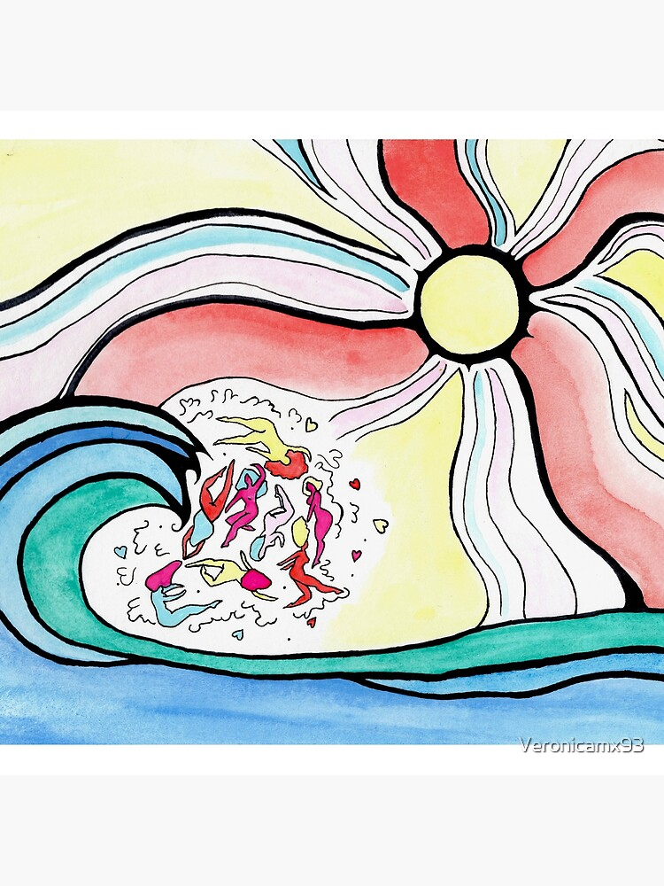Colorful girlie wave by Veronicamx93