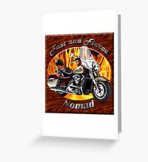 Kawasaki Nomad Fast And Fierce Greeting Card