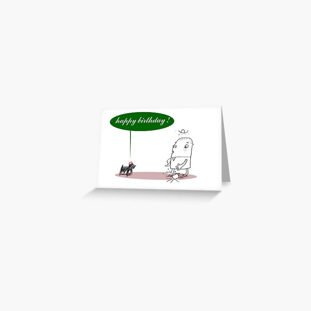 Speaking Dog Birthday Card Greeting Card