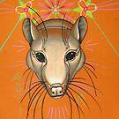 greta the rat animal totem. by resonanteye