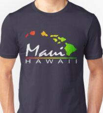 Maui - Hawaiian Islands (Vintage Distressed Look) Slim Fit T-Shirt
