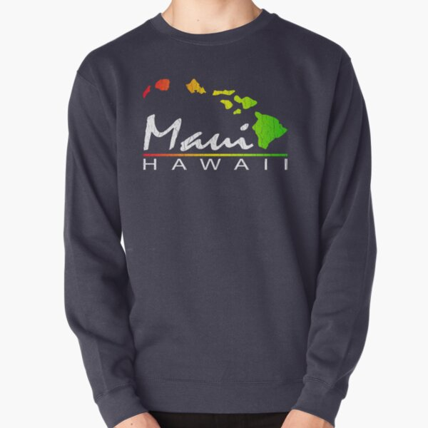 Maui - Hawaiian Islands (Vintage Distressed Look) Pullover Sweatshirt